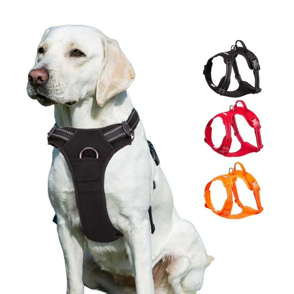 No pull Dog-Harness-Large-Small-For-Pitbull-Reflective-Safety-Harness-For-Dogs-Car