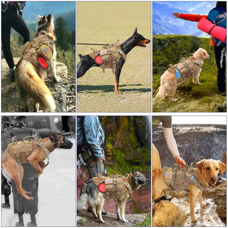 best no pull harness Tactical Military Strong Dog Harness for No Pull with Pouches